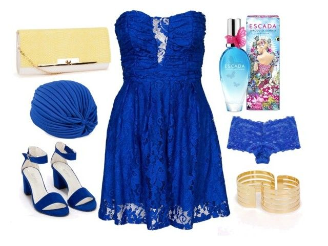 """Blue breezzeee"" by kmk92 on Polyvore featuring ESCADA, Miss Selfridge, Hot Anatomy, NLY Accessories, Nly Shoes and Pieces"