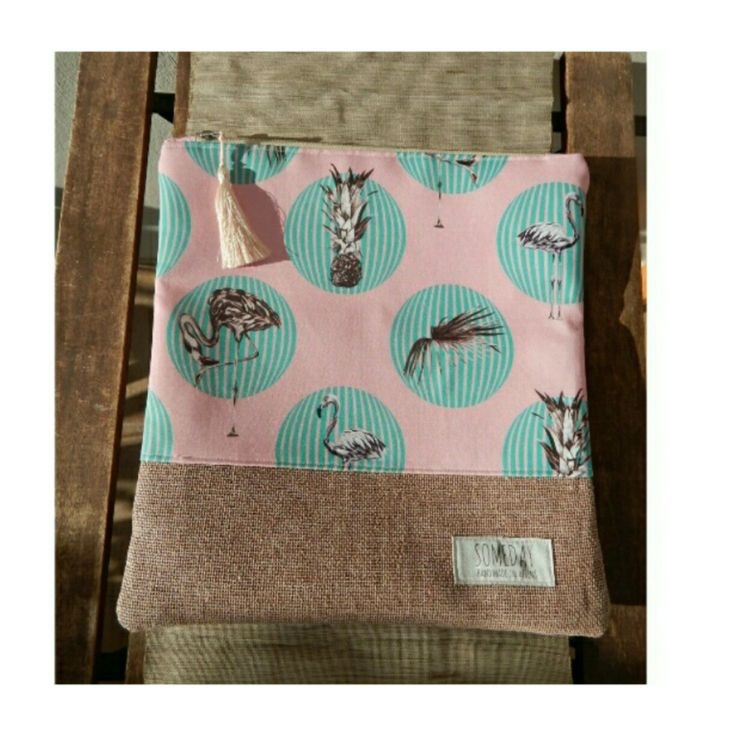Someday summer bag with Flamingos and Pineapples