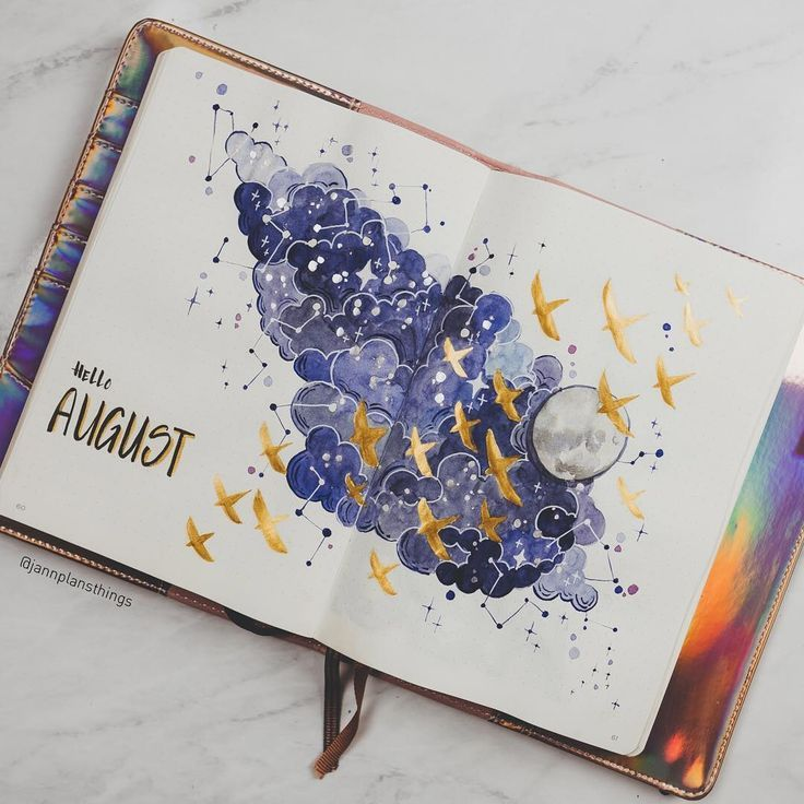 12 wunderschöne August Bullet Journal-Motive, um Sie zu inspirieren