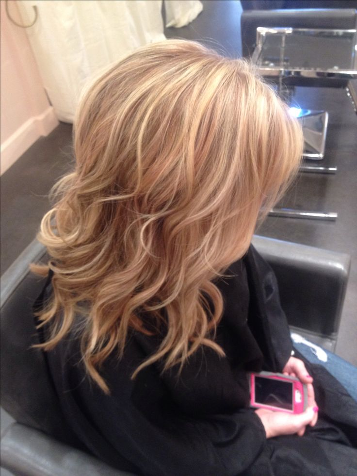 Rose gold lowlights with light blonde highlights and overall light blonde hair
