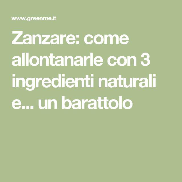 Zanzare: come allontanarle con 3 ingredienti naturali e... un barattolo