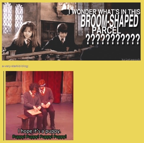 I think it's worth noting Rowling was smart enough to write the scene in which the broom was in a box thus hiding the contents (also known as the major difference between movies and books).