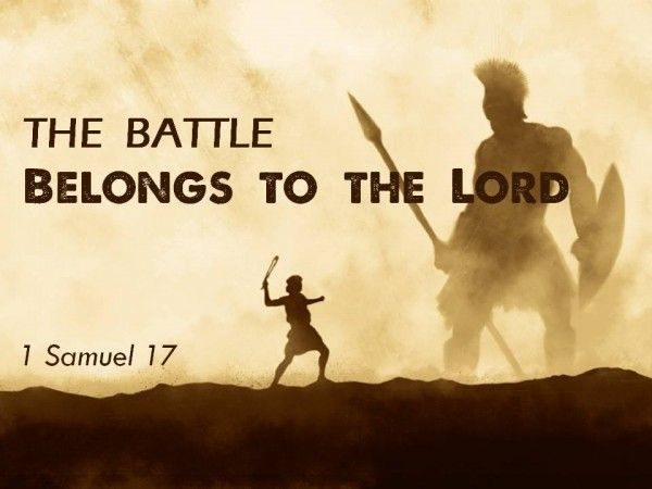 The battle BELONGS to The LORD! He should be the first one we go to in any crisis .Our God is able ...  Go boldly before him and give it to Him !!