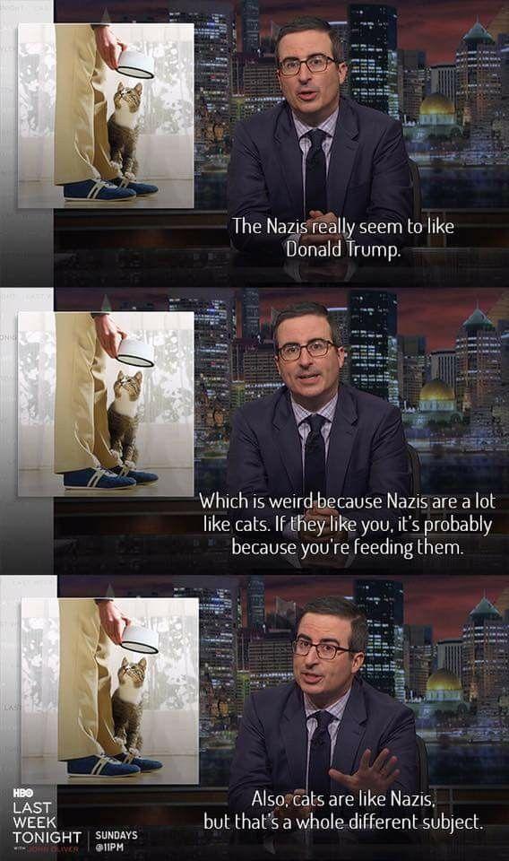 Nazis Like Cats John Oliver