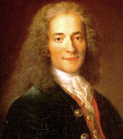 François Marie Arouet dit Voltaire (1694-1778)  incarne dans sa plénitude le Siècle des Lumières.  Génie capable d'être à la fois poète, philosophe, essayiste, historien et dramaturge, il combattit l'obscurantisme religieux. Dès lors, ses oeuvres majeures, Lettres philosophiques (1734), Candide (1759), Zadig (1748), Le Fanatisme ou Mahomet le prophète (1741), le Traité sur la tolérance à l'occasion de la mort de Jean Calas (1763) font figure d'archétype. #litterature #france
