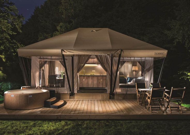 how to build a glamping tent