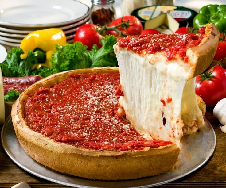 GIORDANO'S WORLD FAMOUS Chicago-Deep Dish Pizza. Hands down... BEST PIZZA EVER! Take me back to Chicago now...