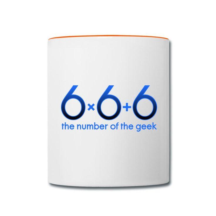 666 - the number of the geek T-shirts - Tvåfärgad mugg