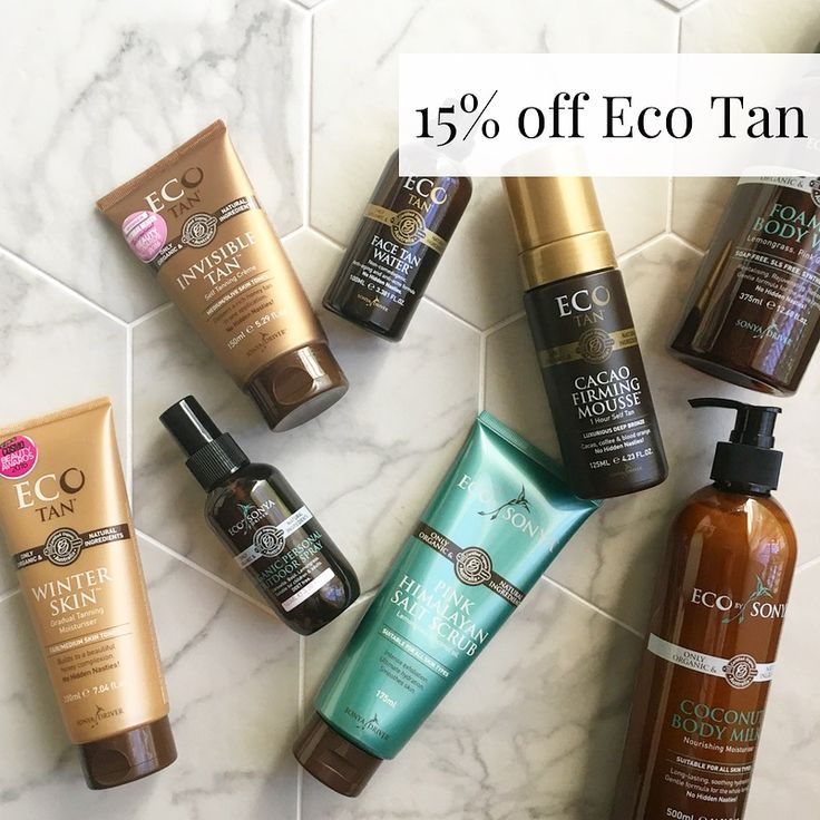 We love all @ecotan products and we now have 15% off the full range, use code TBEECOTAN15 at the checkout, be quick offer ends  31st March.
