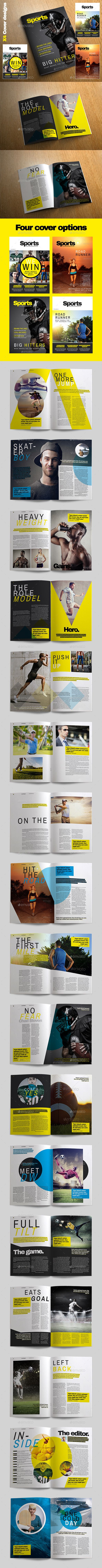 Sports Magazine by CRSDesign Sports Magazine is a professional quality and easy to use magazine template. Packed full or great original page designs. Sports ma