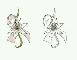 With an edelweiss instead and do an orange and pink ribbon and this is the perfect tattoo for my oma