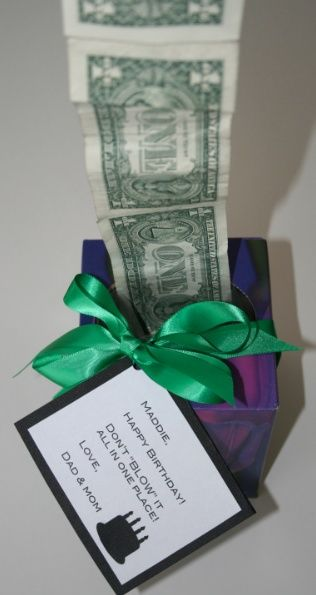 Gifts for Him, Her, or Teens:  DIY Tissue Box Packaging for cash / money gift from the Lovezilla blog