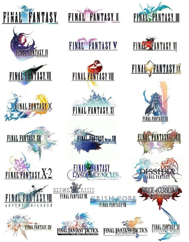 Final Fantasy Logo Compilation by hajpero Final fantasy