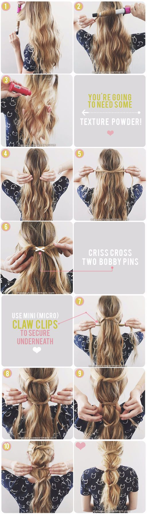 Messy Knotted Ponytail