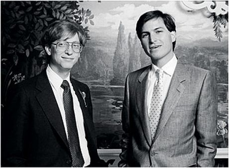 Two Americans who forever changed the world: Bill Gates and Steve Jobs, 1985