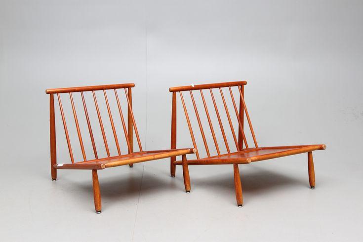 Bilder för 64612. FÅTÖLJER, ett par, Alf Svensson för Dux, 1950/60-tal. – Auctionet