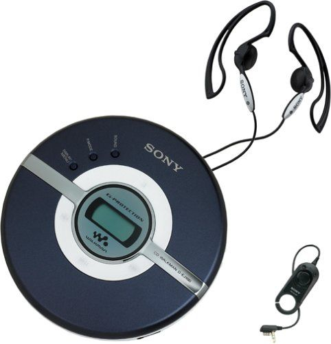 Sony D-EJ100 Walkman Portable CD Player (Blue)