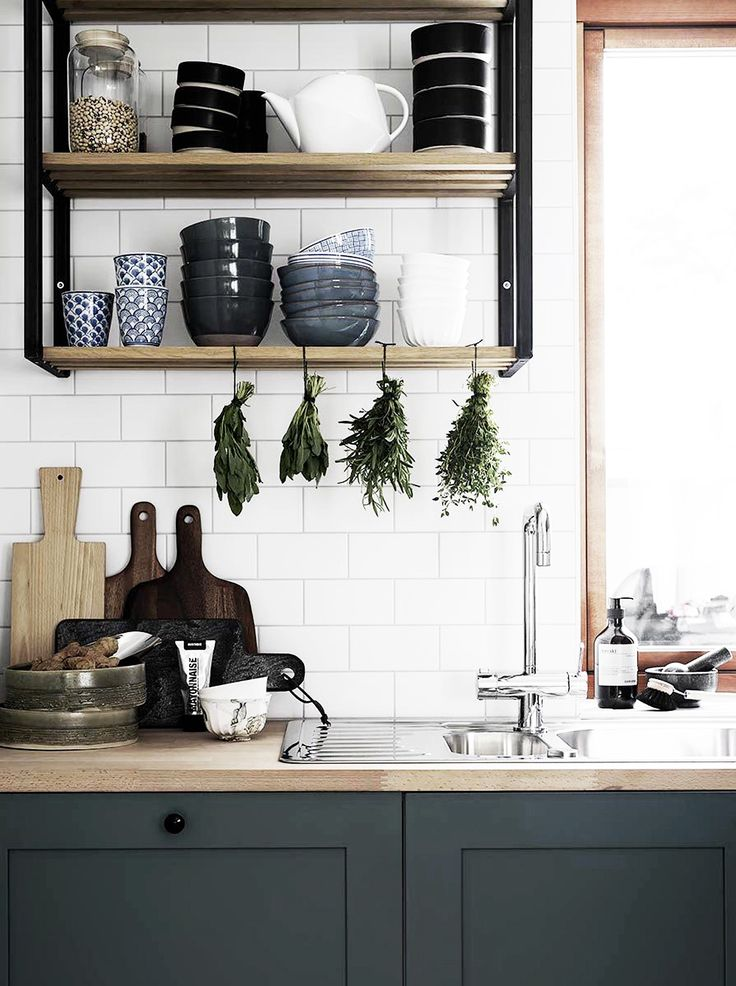 Likes: Subway (with light/white grout), wood top, wood window frame, dark…