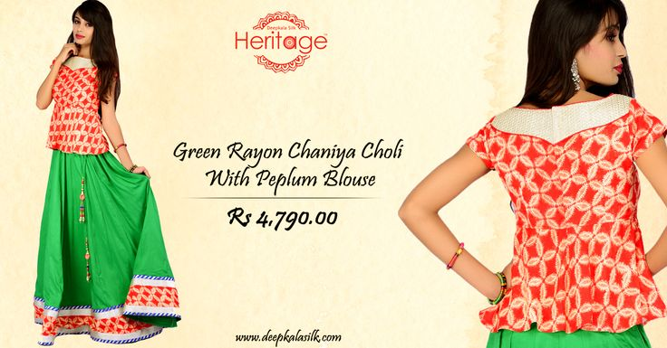 Make a strong fashion statement trying out the #designer chaniya choli in coming #Navratri!