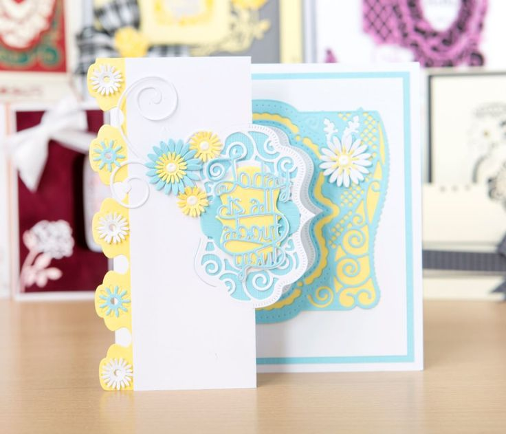 Make beautiful, bespoke cards with the Tonic Essentials Frame, Flip Flop and Easel Die Collection - shop at C&C! / cardmaking / papercraft / scrapbooking / craft