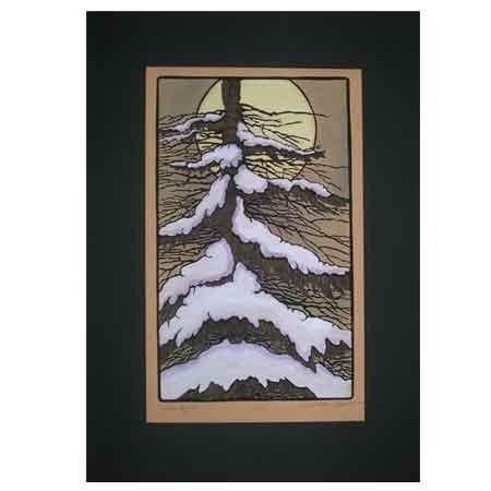 Winter Night Print Large Prints Kathleen West Prints