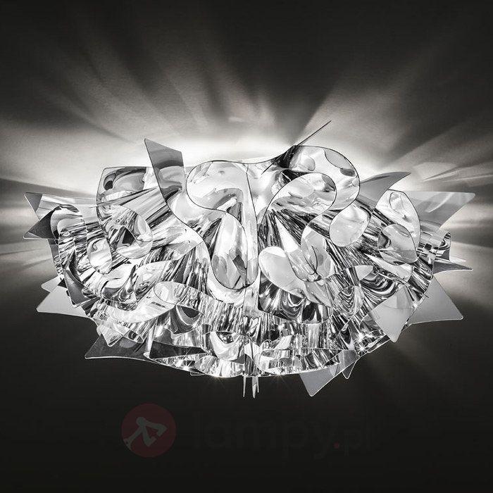 Srebrna designerska lampa sufitowa VELI, 53 cm 8503213