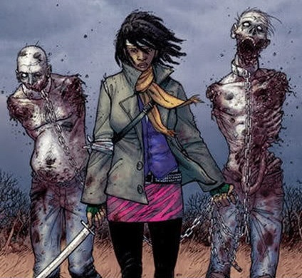 """Michonne character introduced in Season 2 final episode of """"The Walking Dead."""" Can't wait for Season 3!"""