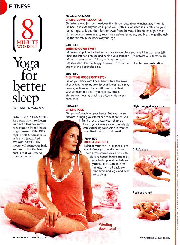 8 minute yoga workout for better sleep...it's worth a try...