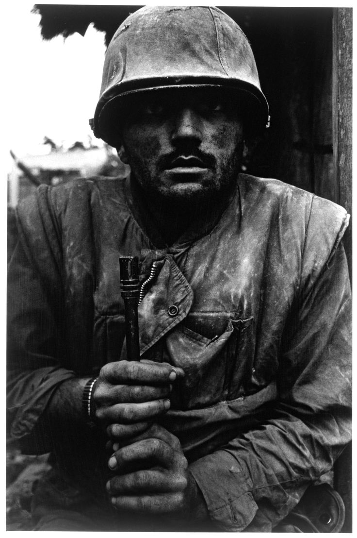 Don McCullin (born 1935)  Shell-shocked Soldier, Hue  1968  Gelatin silver print  Museum no. Ph.1280-1980