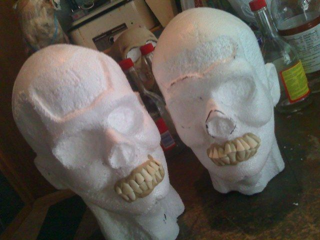 how to make halloween props out of styrofoam