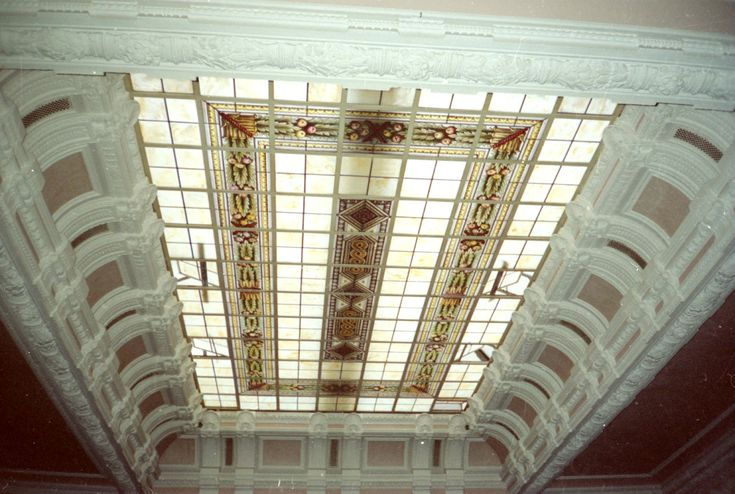 Velario dipinto a mano e cotto a fuoco in vetro soffiato patinato - Giudo Polloni