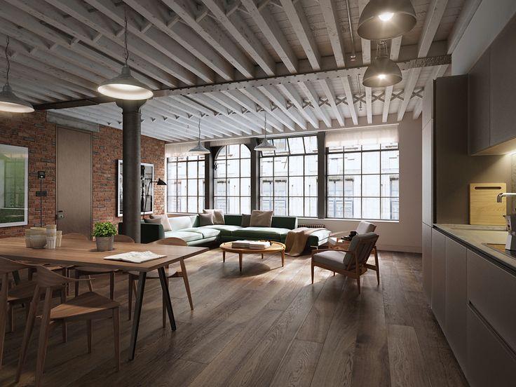 London Soho lofts on Behance | Cool Interior Projects | Pinterest | Soho  loft and Behance