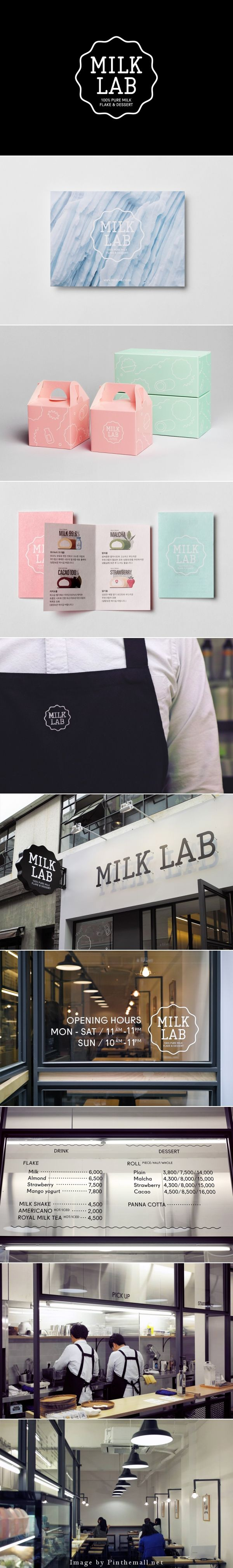 #Logo and Brand #Identity for Milk Lab designed by Studio FNT. Let's get something sweet #packaging PD
