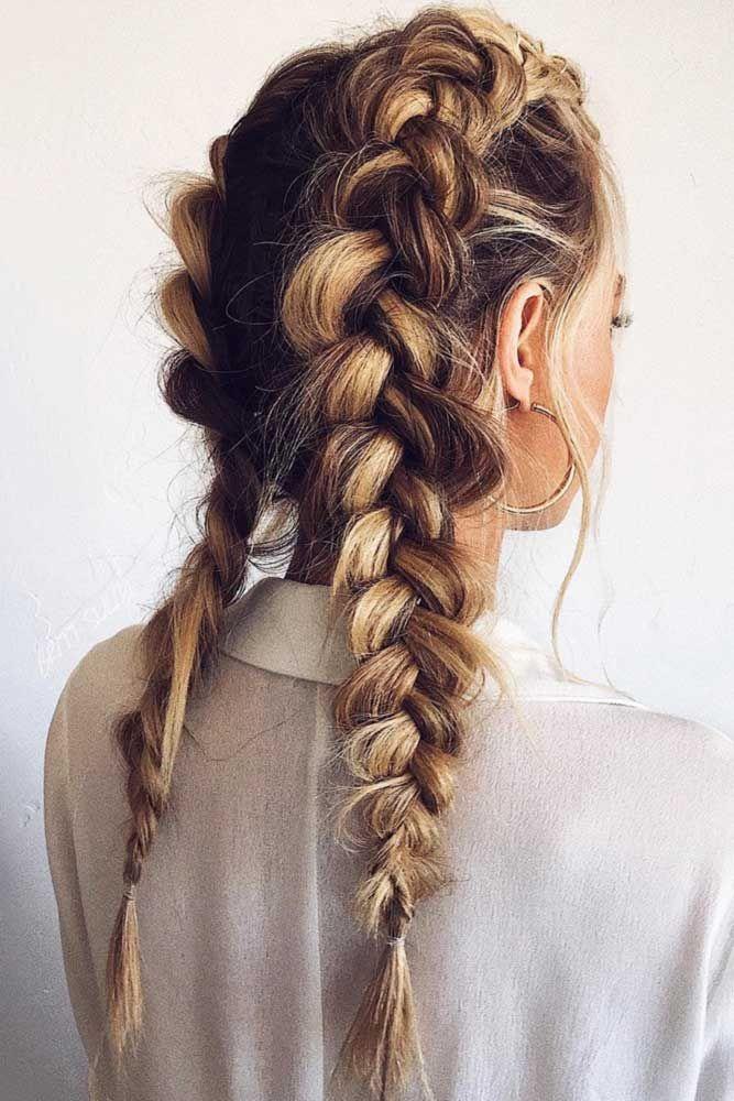 Double Dutch Braids #braids ❤️ Hier finden Sie die angesagtesten Ideen, wie …   – HAIR