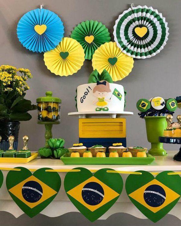 Copa Do Mundo Decoracao De Festa Infantil Com Imagens