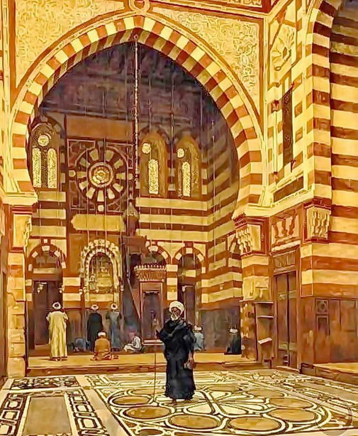 Mosque Of Ezbeck, Cairo, Egypt by Aloysius O'kelly  Find more on : https://www.facebook.com/pages/Islamska-arhitektura-i-umjetnost/1403357959880645