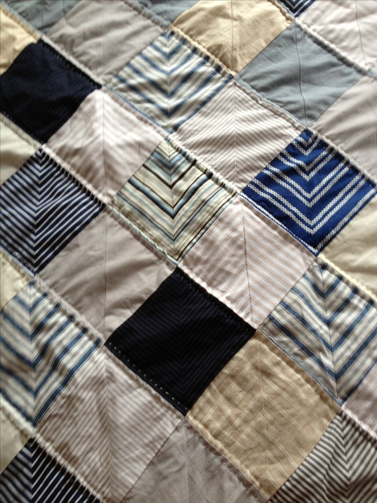 Quilt Patterns From Men S Shirts : 81 best images about Quilts from old shirts on Pinterest Striped shirts, Quilt and Plaid quilt