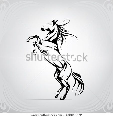 silhouette of a horse on racks animal designs pinterest silhouettes horse and tattoo. Black Bedroom Furniture Sets. Home Design Ideas