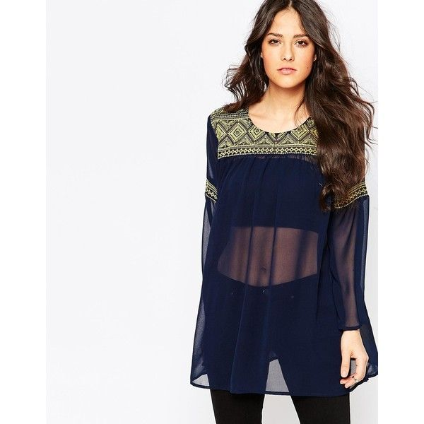 Ax Paris Embroidred Blouse With Bell Sleeves 37 Liked On