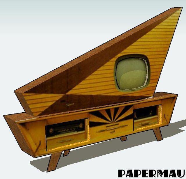 PAPERMAU: Kuba Komet Entertainment System Paper Model
