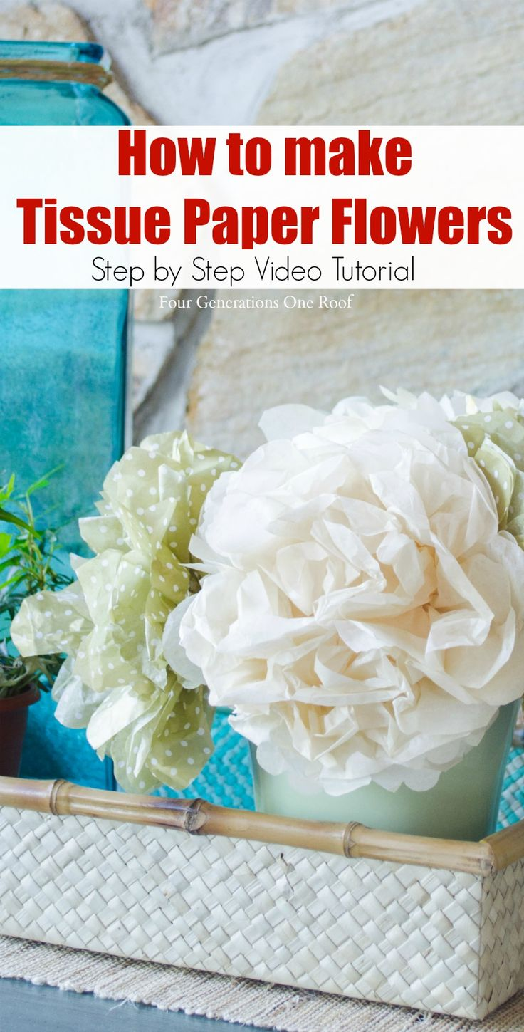 How to make tissue paper Rose, free template