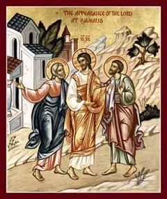 Road to Emmaus  Orthodox icon