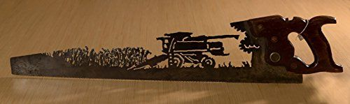 #home This is a popular design here in Nebraska! You can order #this saw and choose between a wheat crop or a corn crop . Just let me know what you like! I am al...