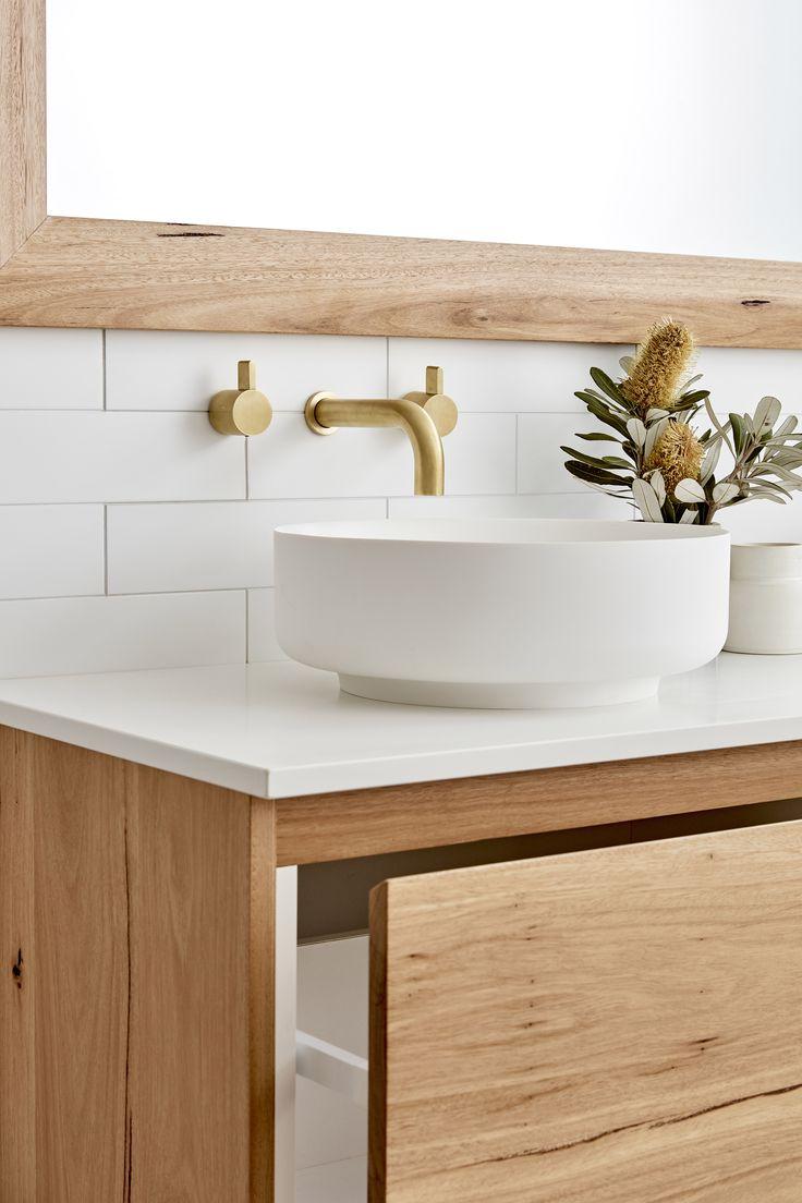 The Avoca Vanity by Loughlin Furniture. Styled by Kara Demmrich (Kyal & Kara). Sussex Tapware.