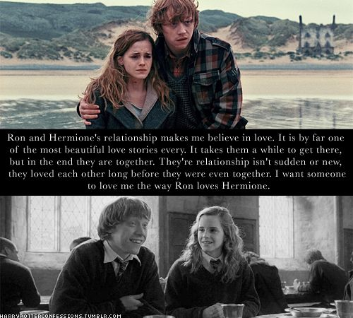 I already have a great marriage, but I do love the Ron/Hermione relationship.  I think it's one of the better ones in literature.  It's DEFINITELY one of the better ones of film.