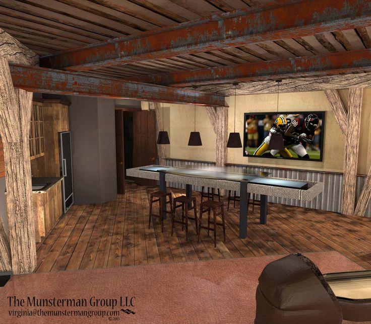 Bowling alley rec room design concept wsr interior renderings pinterest rec rooms design - Rec rooms designs ...