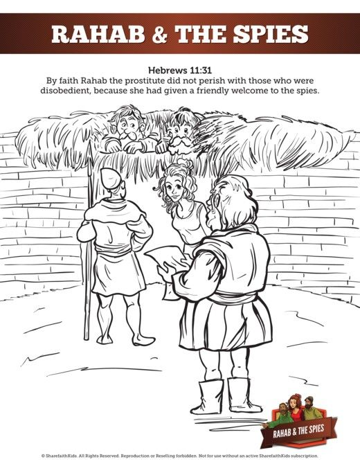 Rahab And The Spies Sunday School Coloring Pages