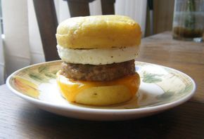 I'm lovin' it-- The Healthy Egg McMuffin made with Coconut Flour (Gluten-Free, Low Carb, Diabetic-Friendly)!