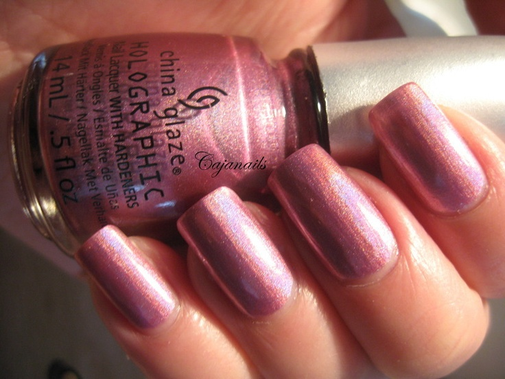 """China Glaze Hologlam collection  """"Astro-Hot""""  Live swatches on http://www.youtube.com/cajanails"""