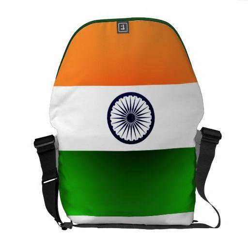 India Flag Rickshaw Messenger Bag